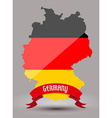 Germany flag map vector image