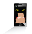 girl in white bikini on mobile phone vector image