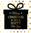 gold and black christmas background 3110 vector image vector image