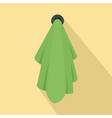 green towel icon flat style vector image vector image