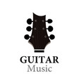 guitar music logo for show or school vector image vector image