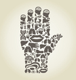 Hand body vector image vector image