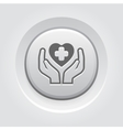 Health Care Center Icon Grey Button Design vector image vector image