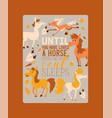 horse animal horse-breeding or vector image vector image