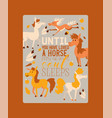horse animal of horse-breeding or vector image vector image