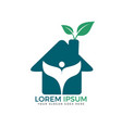 house and leaves logo design vector image vector image