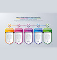 infographic design with 5 process or steps vector image vector image