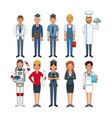 jobs and professions vector image