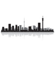 Johannesburg city skyline silhouette vector image vector image