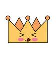 king crown kawaii character vector image vector image