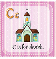 Letter C is for church vector image vector image