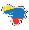 map of venezuela with its flag vector image vector image