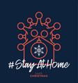 merry home safe christmas 2020 coronavirus vector image vector image
