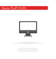 monitor icon for web business finance and vector image vector image