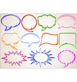 multicolor hand-drawn talking bubbles comic book s vector image vector image