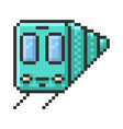 outlined pixel icon train fully editable vector image