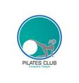 pilates logo design vector image vector image