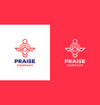 prayer logotype template positive and negative vector image vector image