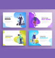 presentation slide templates or hero banner images vector image