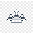 pyramid concept linear icon isolated on vector image