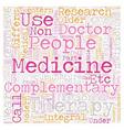 Role of Alternative Medicine in modern society vector image vector image