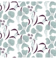 Romantic flower seamless pattern vector image