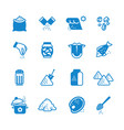 salt silhouette icons set vector image vector image