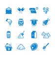 salt silhouette icons set vector image