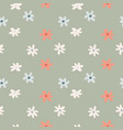 seamless simple doodle pattern with red and light vector image vector image
