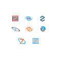 set of initial letter z logo template design vector image vector image