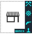 showcase icon flat vector image