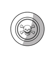 Skull death symbol vector image vector image