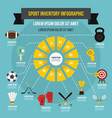 sport inventory infographic concept flat style vector image vector image