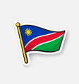 sticker national flag namibia vector image vector image