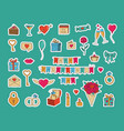 sticker pack for valentine s day set of vector image vector image