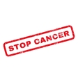 Stop Cancer Rubber Stamp vector image vector image
