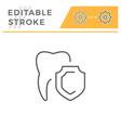 teeth protection editable stroke line icon vector image vector image