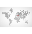 Text world map vector image vector image