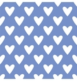 Tile pattern with white hearts on blue background vector image