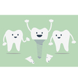 tooth implant vector image vector image
