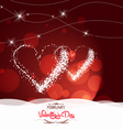 valentine day with heart light Background vector image vector image