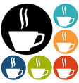a cup of coffee icon vector image