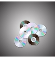 DVD and CD disc sets Computer disks Realistic vector image