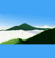 nature background of batur mountain indonesia vector image