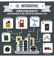 Oil Industry Infographic flat style vector image