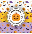3 colors halloween patterns vector image