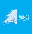 3d cartoon and realictic angel white wings paper vector image vector image