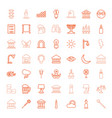 49 light icons vector image vector image
