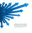 arrow explosion blue vector image vector image