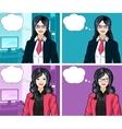 Asian Businesswoman pop art comic vector image vector image
